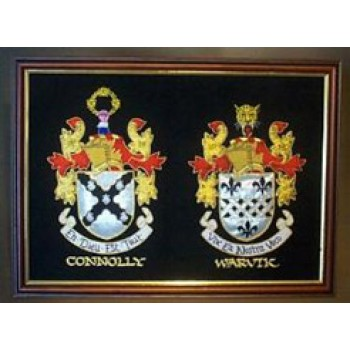 Double Embroidery showing both Surnames (large 16 x 20 inches)