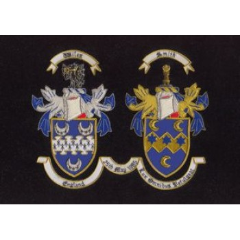 Double Embroidery showing both Surnames (extra large 20 x 24 inches)